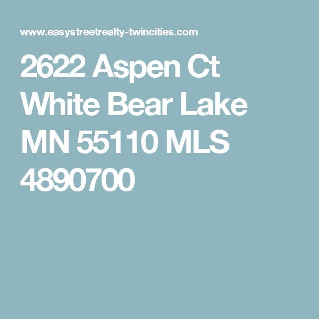 2622 Aspen Ct White Bear Lake MN 55110 MLS 4890700