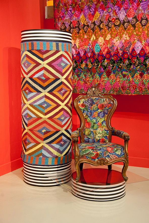 'Exhibition at the Fashion & Textile Museum, Kaffe Fassett: A Life in Colour - Photo by Oasis Fashion Journal'