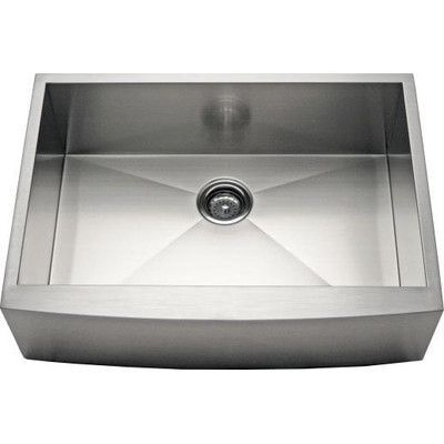 "Alpha International 30"" x 21.63"" Apron Farm Single Bowl Kitchen Sink"
