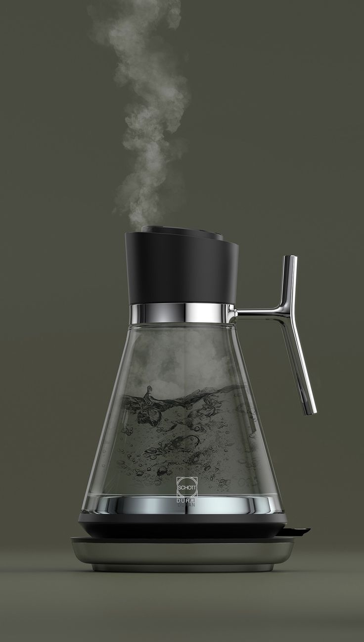 Glass Kettle, designed by Alquemy co-founder, David Knott...