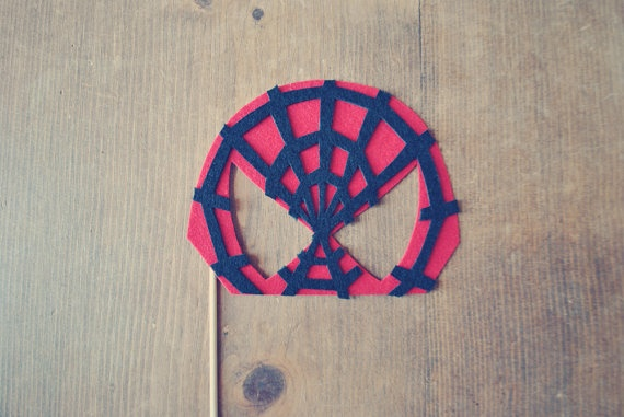 SpiderMan Mask Photo Prop // Photo Booth Prop on by Perfectionate, $11.00