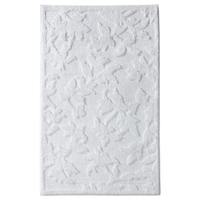 threshold floral bath rug white rr rugs