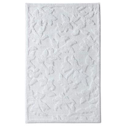 threshold floral bath rug white rr rugs