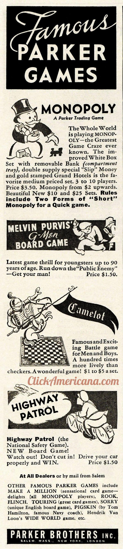 1936 parker bros games