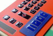 Designfolien mit PU-Dom. Eine plastische Erhöhung auf den Tasten für eine bessere Optik