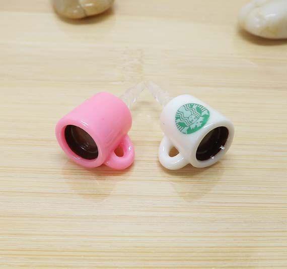 2 colors Cute Starbucks Coffee Cup Dust Plug 35mm by Polaris798, $2.99
