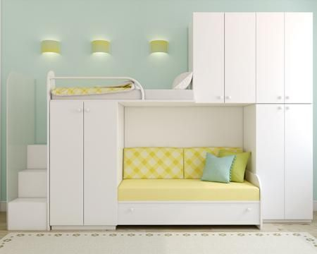 Simple Lovely Space saving Loft Bed Ideas for Girls