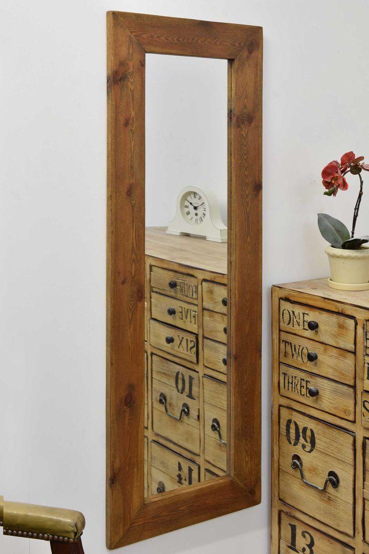 Wooden full length mirror uk