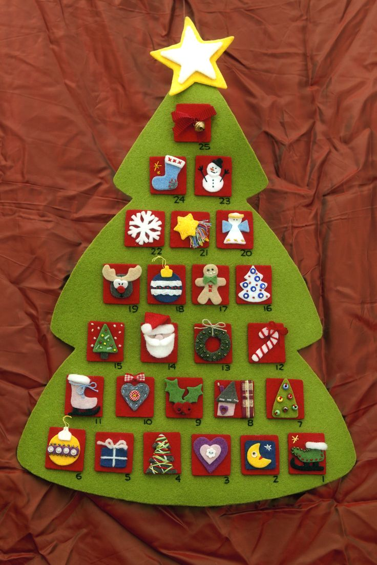 Calendario dell'Avvento di Natale *Le Chips di Feltro* - Felt Christmas Advent Calendar