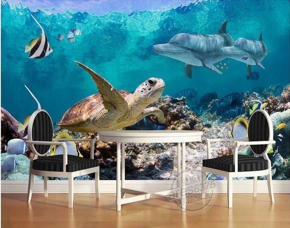 Underwater Sea Turtle Wall Mural