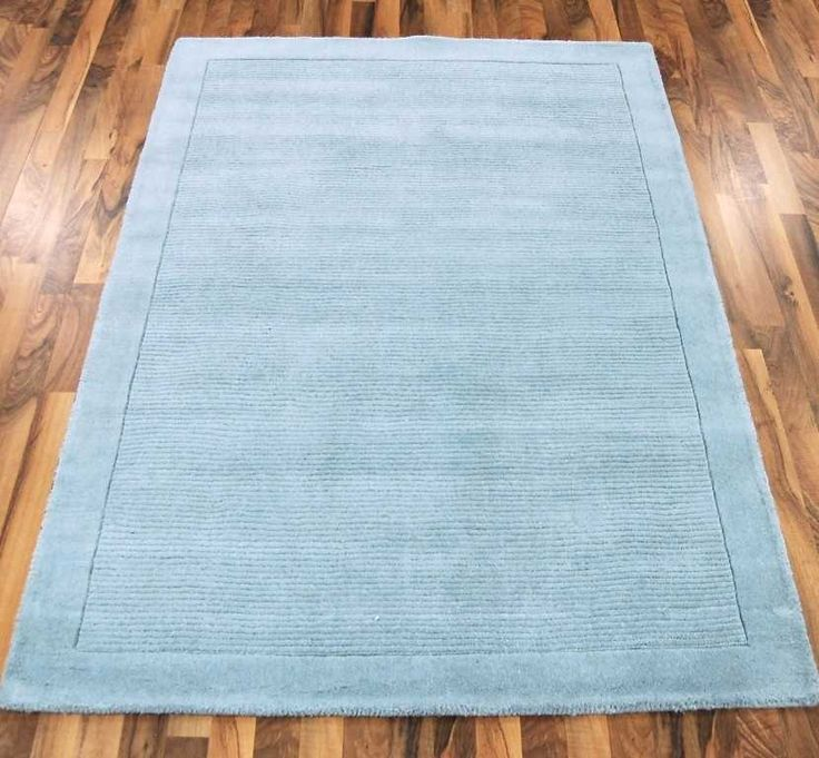 York Duck Egg Blue Plain Rugs | Modern Rugs