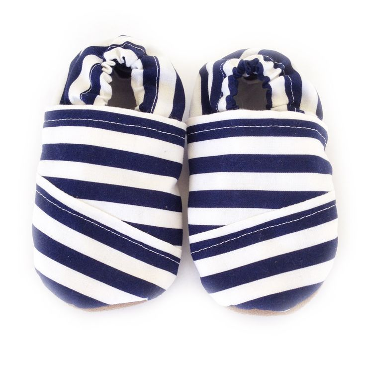 TOMS striped navy blue and white baby shoes, striped baby moccasins, soft soled baby shoes, crib shoes, unisex baby shoes by SolePretty on Etsy https://www.etsy.com/listing/230367070/toms-striped-navy-blue-and-white-baby