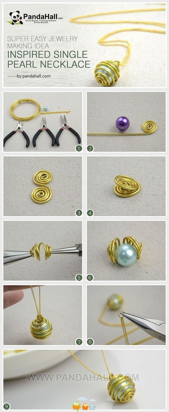 Simple way to wire a pearl. I wouldn't have thought of doing it this way.: