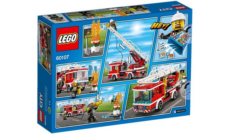 LEGO City - Fire Ladder Truck - 60107, read reviews and buy online at George at ASDA. Shop from our latest range in Kids. Hop in the Fire Ladder Truck and race ...