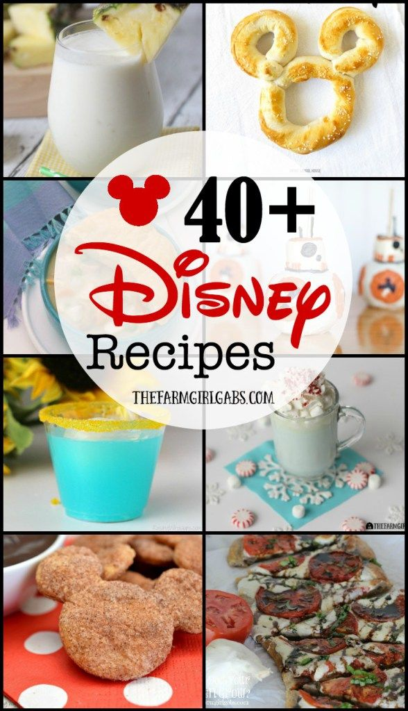 40+ Disney recipes that you can make at home. These recipes are the next best…