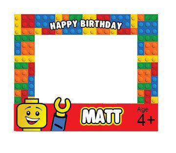 LEGO Photo Booth marco fiesta de cumpleaños por NYCPartyPrintables