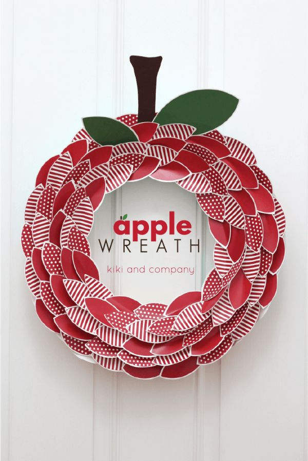 Apple Wreath from kiki and company  Super cute for Back to School