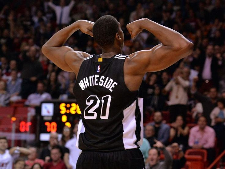 GoHerd! Miami Heat's Whiteside joins Dwight, Mutombo, Barkley & Chamberlain as only players to shoot 90+ FG% w/ 20+ pts & 20+ rebs! WHAT!