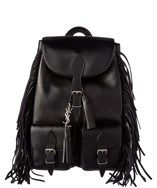 Saint Laurent Festival Fringed Leather Backpack