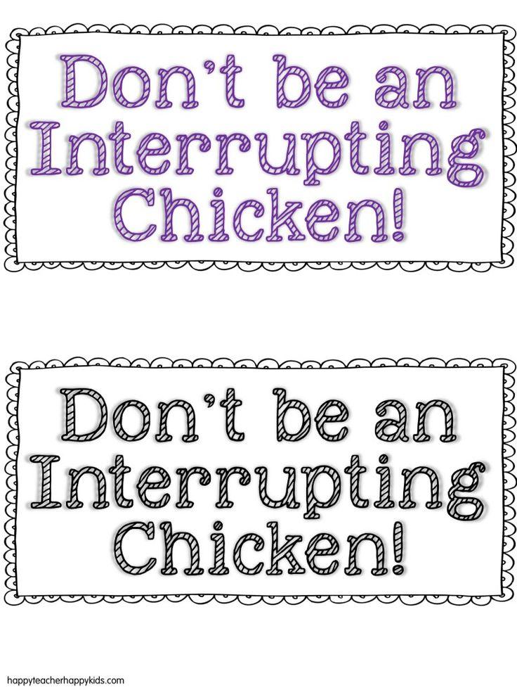 I LOVE, LOVE, LOVE the story...Interrupting Chicken   FREE! Interrupting Chicken activities!