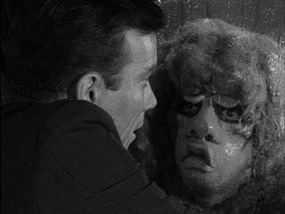 Bill and The Gremlin in The Twilight Zone's Nightmare at 20,000 Feet.