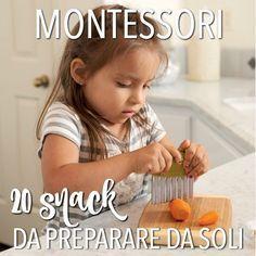Montessori in cucina: un elenco di snack semplici e sani che i bambini possono preparare da soli. Suggerimenti su utensili e arredo. Leggi subito!