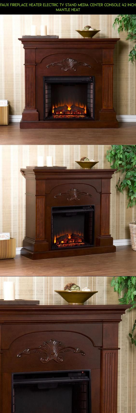 Cheap legends furniture cambridge fireplace media center in cherry - Faux Fireplace Heater Electric Tv Stand Media Center Console 42 Inch Mantle Heat Parts