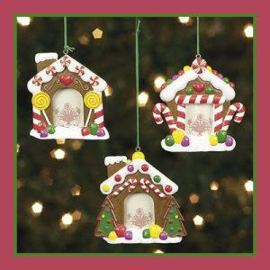 3 Resin Gingerbread House Photo Frame Ceramic Christmas Ornaments  http://bit.ly/1Peayq2