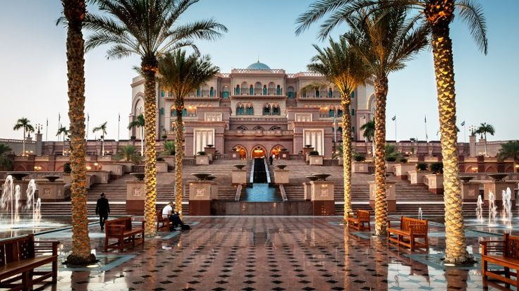 Overlooking its own private natural bay on the shores of the Arabian Gulf, the beautiful Emirates Palace Hotel in Dubai is a dream to stay in.