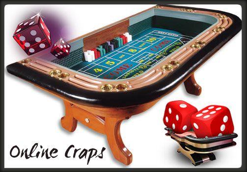 """Craps bír asztal két nagyon fontos funkciót tölt be. 1) Kockákat az asztalon dobják, hogy biztosítsák a tisztességes dobást. 2) Az asztal legfontosabb része az """"elrendezés"""". Ez magába foglalja az asztalon levő megjelölt szakaszokat."""