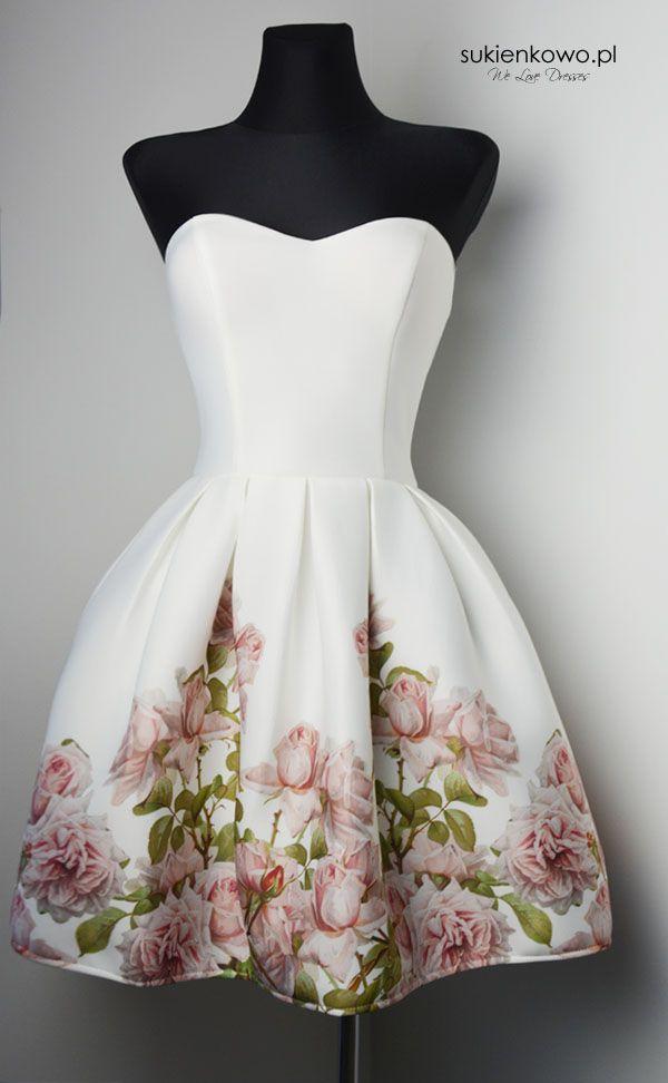 Sukienkowo.pl - SukienkabombkaekriwkwiatyHOLLY