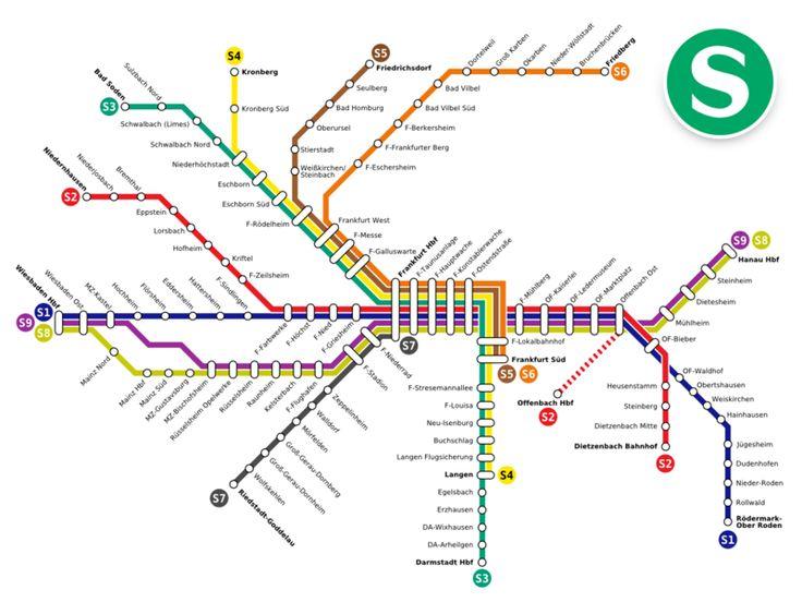 Frankfurt SBahn Public Transport Maps Pinterest Frankfurt - Berlin rail map pdf