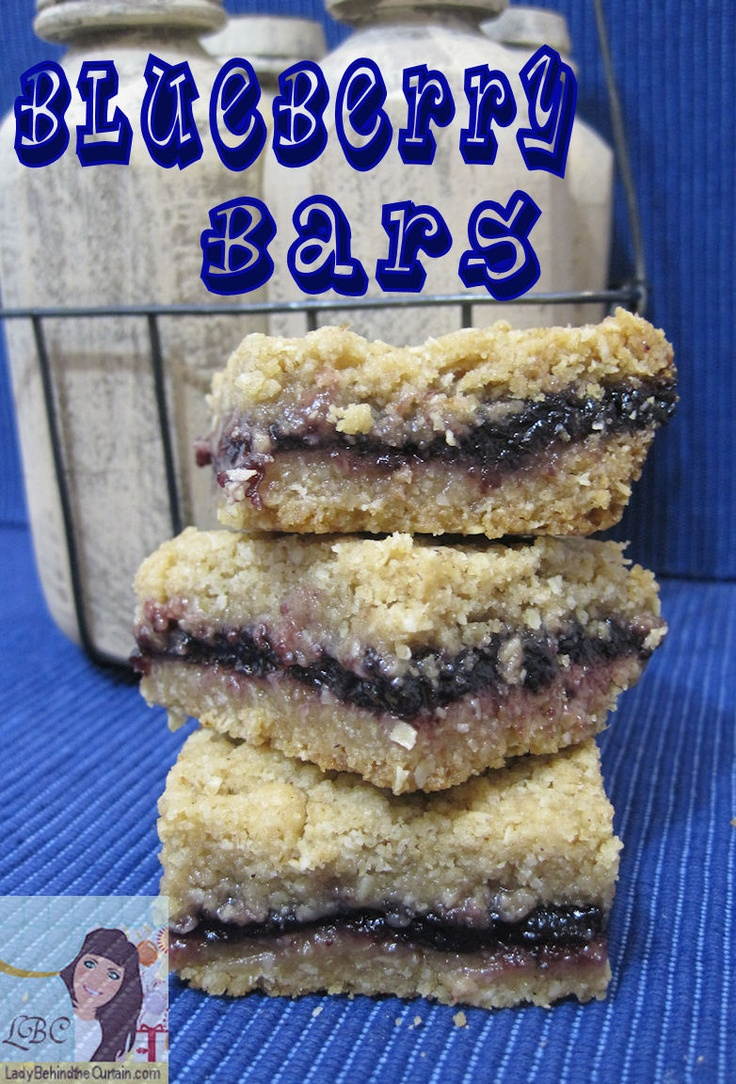 Lady Behind The Curtain - Blueberry Bars
