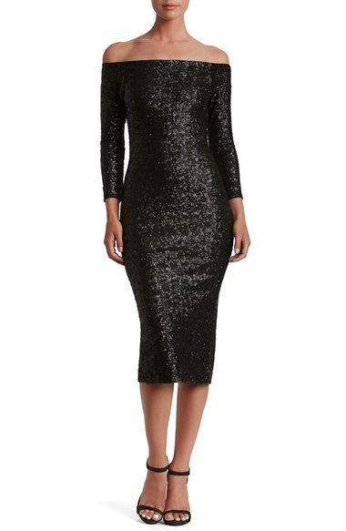 Dress the Population Addison Sequin Midi Dress available at #Nordstrom
