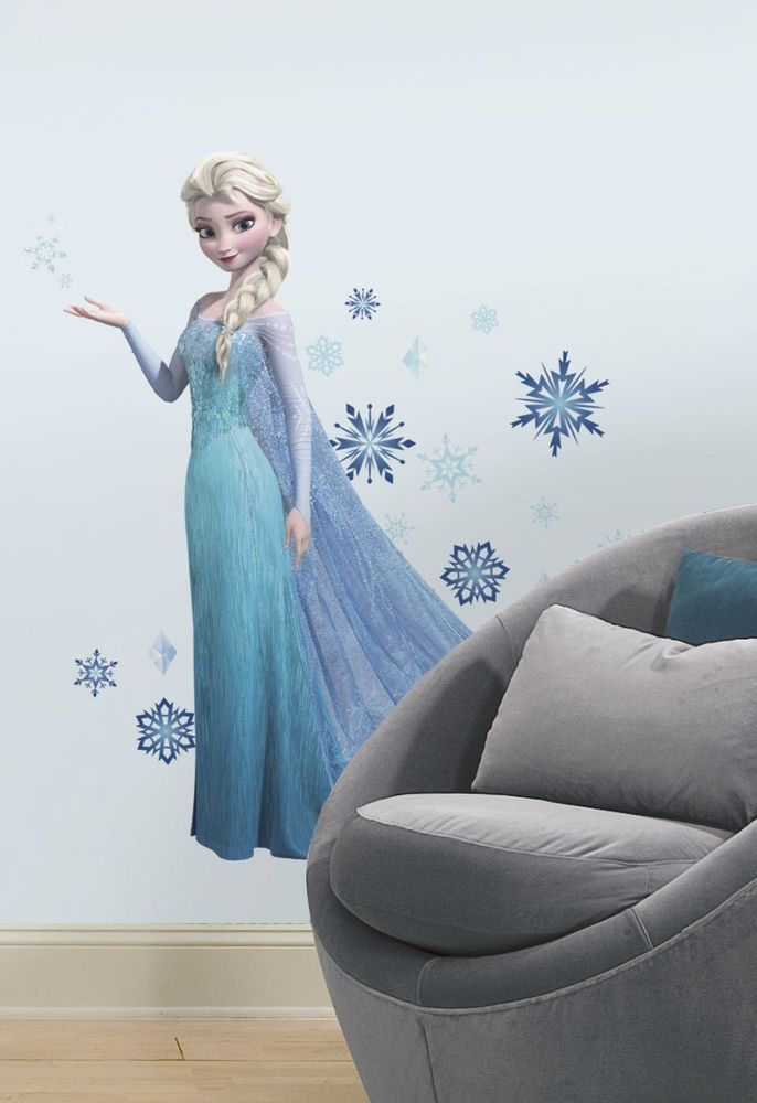 Frozen ELSA GiaNT WALL MURAL DECALS New BiG Disney Stickers Girls Bedroom  Decor