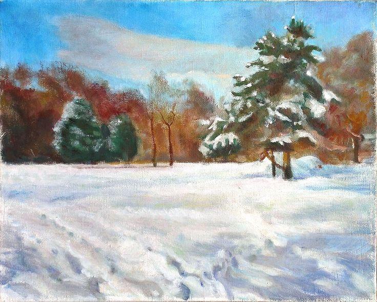 Tél a Városligetben