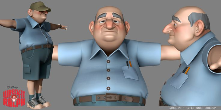 Model for one of Litwack's Arcade patrons, from the movie Wreck-it Ralph.