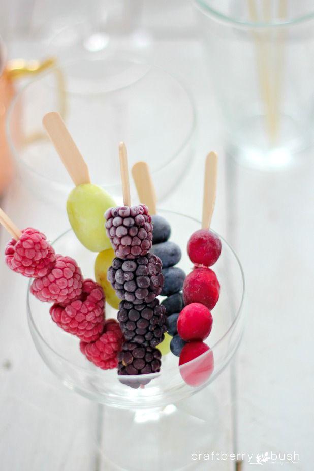 Frozen fruit cocktail stir sticks (via Bloglovin.com )