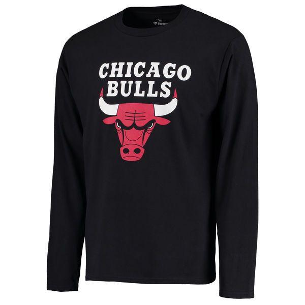 Chicago Bulls Team Essential Long Sleeve T-Shirt- Black - $24.99