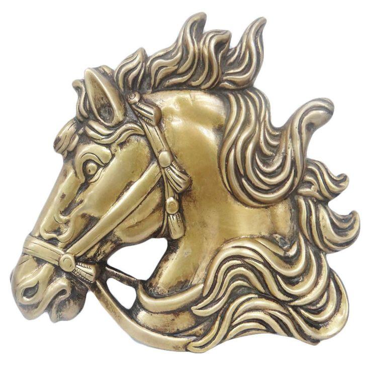 Golden color engraved #brassmetal wall decor having horse design,  #horsesculpture #homedecor
