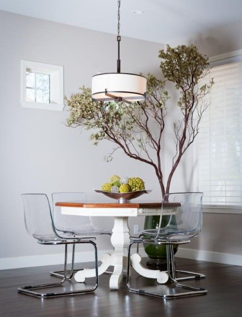 20+ Best Pictures Dining Room Wall Decor Ideas & Designs - Modern Dining Room Ideas With Large Tree as Art