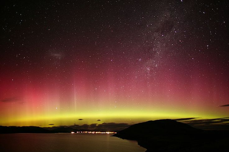 Aurora australis over new zealand outer space pinterest