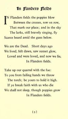 Lovely poem about the sacrifices of soldiers. One of my favs from the 101 Famous Poems book.