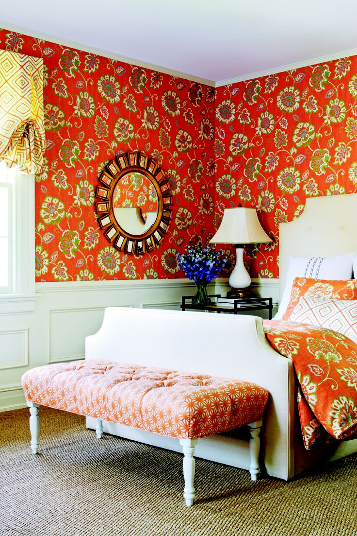 Red Wallpaper For Bedroom 17 Best Images About Bedrooms Are Better With Wallpaper On