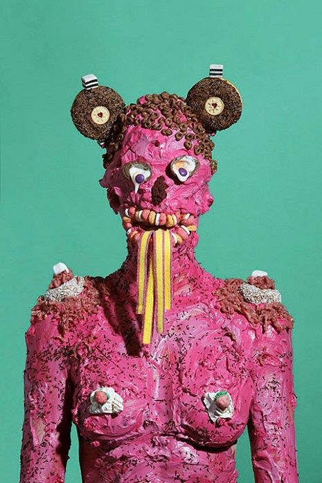 Humans shellacked in junk food for monstrously sloppy portrait series | Dangerous Minds