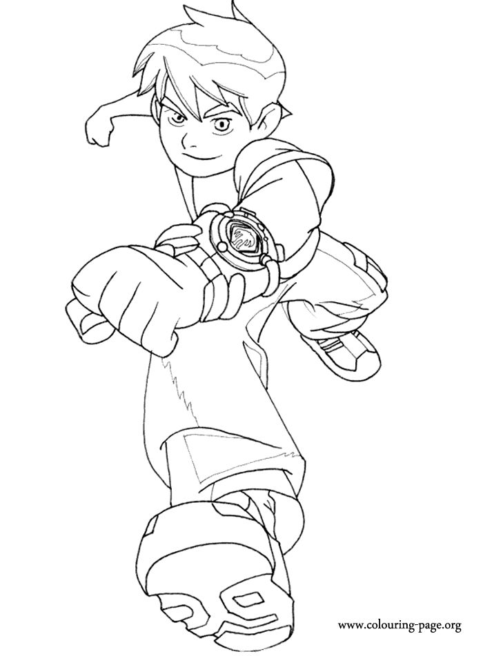 ben 10 coloring page more