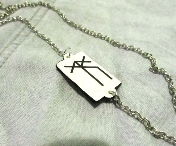 Armband - keltisches Runensymbol - Überwindung von Hindernissen - Acrylglas