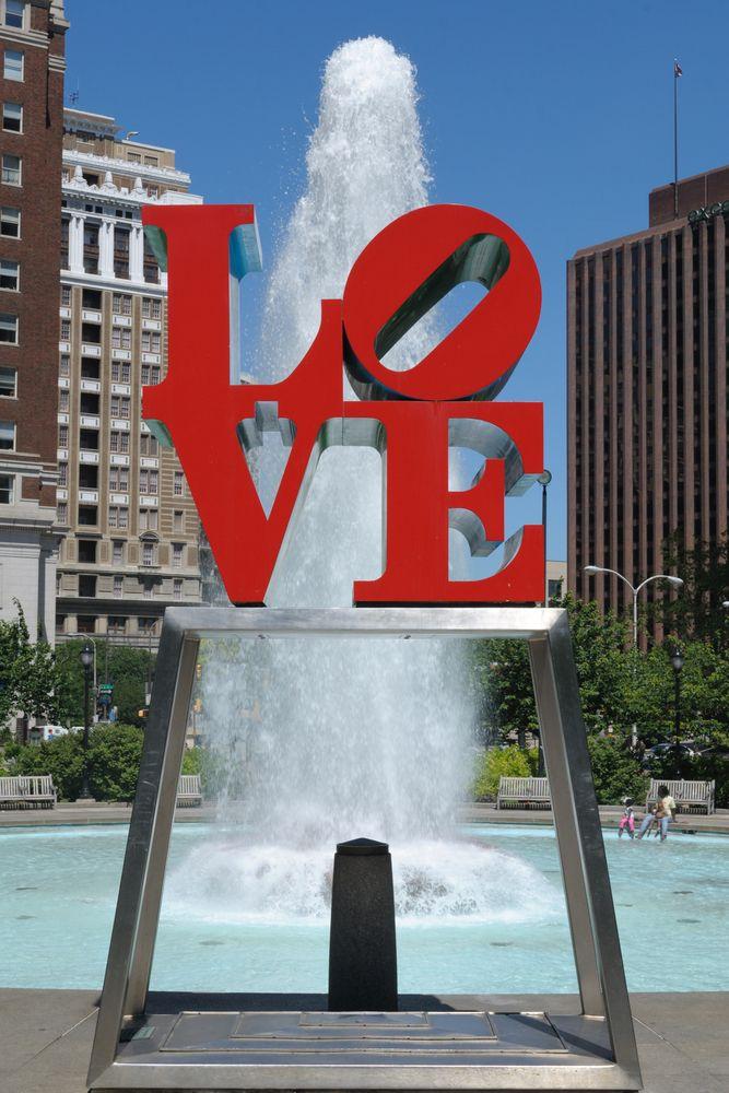 Parque del amor, en el centro de Filadelfia.