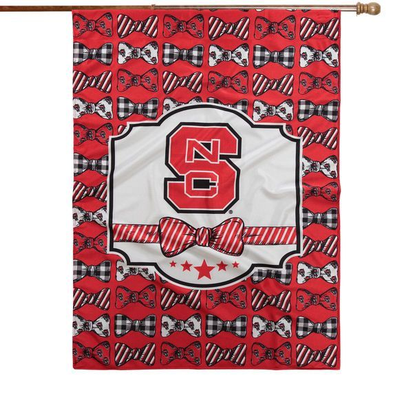 """NC State Wolfpack 28"""" x 40"""" Bowtie Design House Flag - $36.99"""