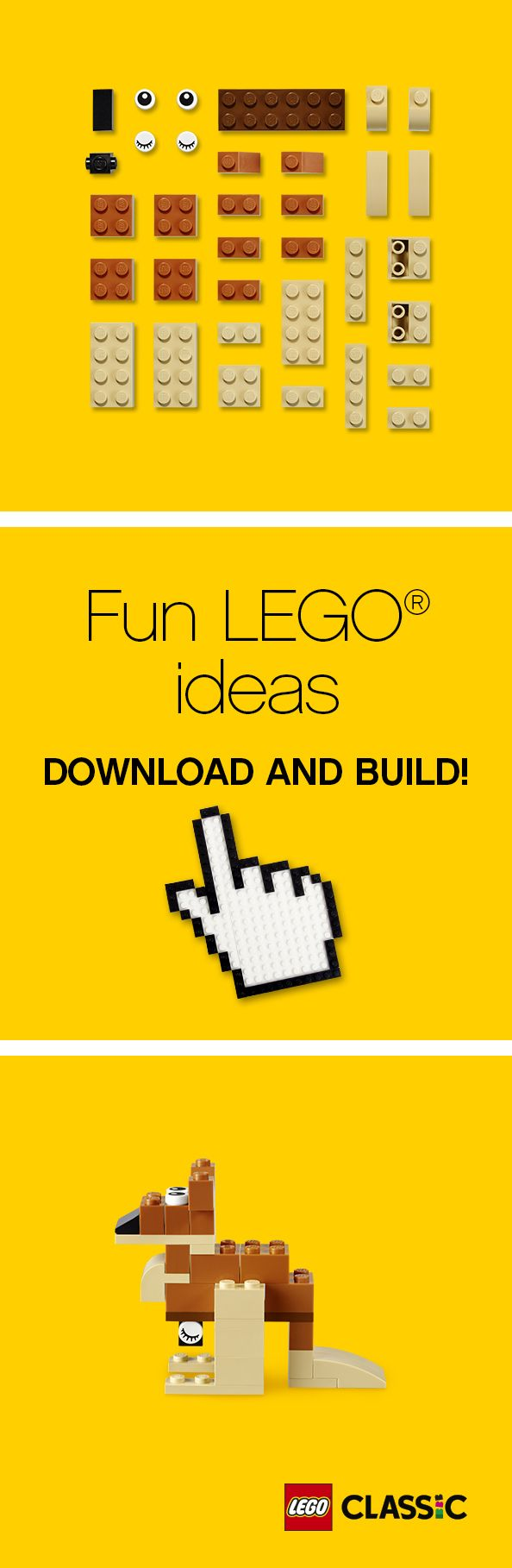 Happy Australia Day! Hop, skip and jump over to our building instructions, and create your very own LEGO kangaroo in a flash! Your family will love this festive gift or activity.
